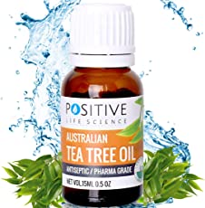 POSITIVE Tea Tree Essential Oil for Skin & Hair - 15ml - Pack of 1