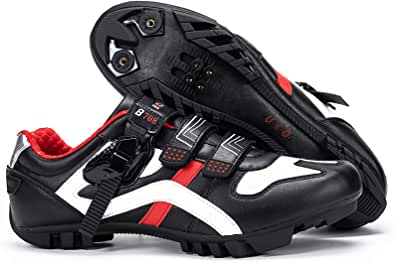 BUCKLOS Road Cycling Shoes Men, Precise Buckle Strap Mountain Bike Shoes Sneakers Spin Shoes MTB Bicycle Shoes Compatible with Peloton SPD/SPD-SL & Look Delta Lock/Unlocked …