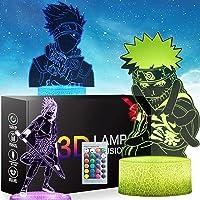 Lampe De Veilleuse 3d Anime Japonais Uzumaki Naruto Veilleuse Avec Touche Et Télécommande Table De Bureau Lampe Pour…