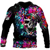 3D Print Plus Size Zip Up Hoodies for Man, Spring Unisex Casual Pullover Sweatshirts