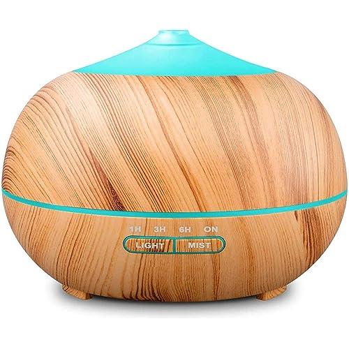 400ml Diffusore di Oli Essenziali, Tenswall Ultrasuoni Umidificatore Diffusore di Aromi con 7 Colori LED - Senza BPA
