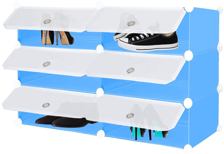 Steckregal aus kunststoff-boxen  Kesser® DIY Steckregal Schrank Kleiderschrank ✓ Schuhschrank ...