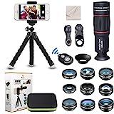 Kit de lente de cámara universal para teléfono Teleobjetivo 18X Lente gran angular,macro, ojo de pez filtro CPL Flow Star Rad