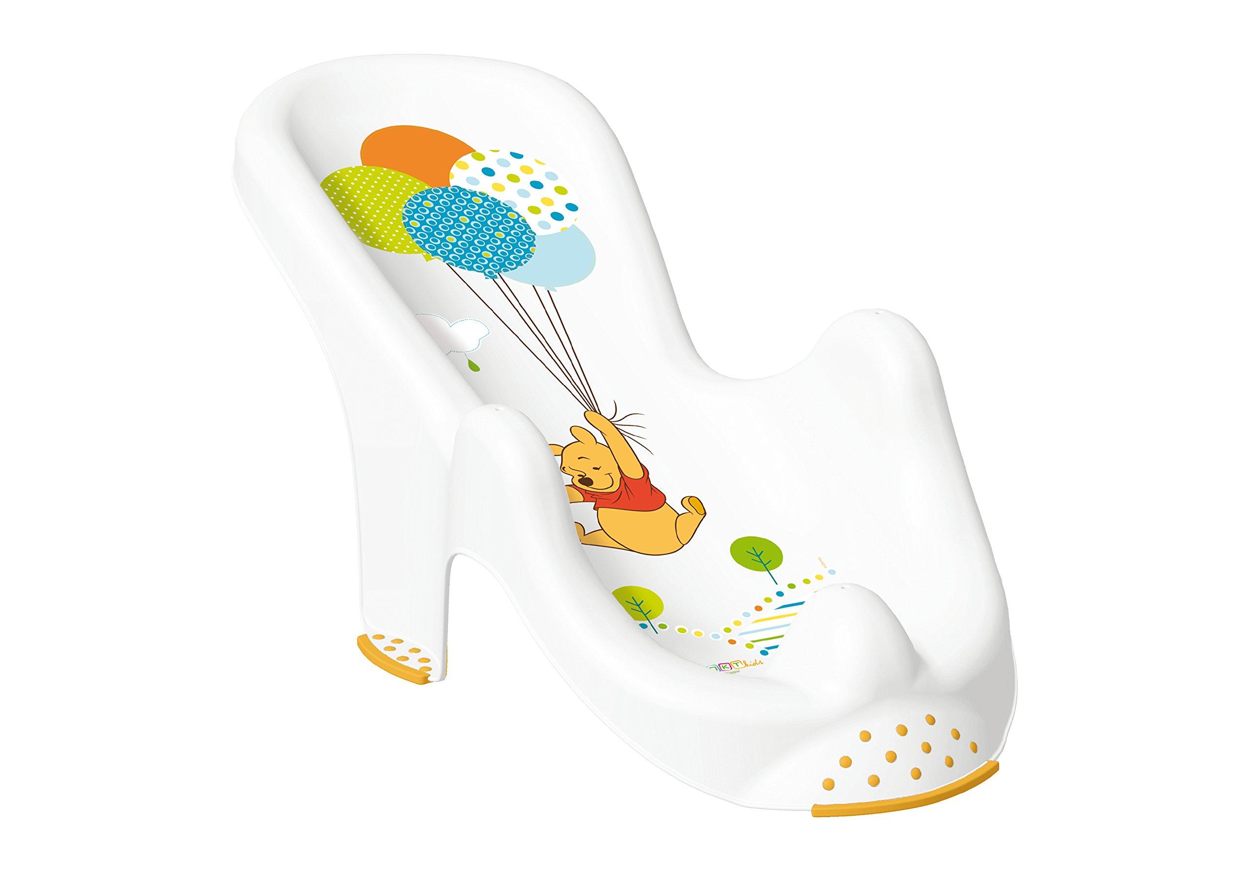 "Set of 2 Disney Winnie Pooh White Bathtub XXL 39.37"" + Bath Seat"