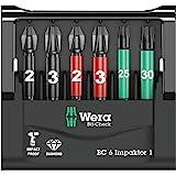Wera 05073637001 Wera Werk Hermann Werner GmbH /& Co KG 6-teilig Bit-Sortiment Bit-Check 6 TX Universal 1 SB