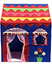 Homecute Hut Type Kids Toys Jumbo Size Play Tent House for Boys and Girls Blue-Red