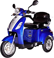 Rolektro E-Trike 25 V.2 Blau oder Rot Dreirad Elektroroller 1000W 25 Km/H RW 50KM Stockhalter Koffer USB EU-Zulassung