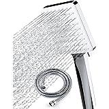 Newentor Cabezal de ducha con manguera, cabezal de ducha de alta presión con manguera de 1,5 m, juego de manguera y cabezal d