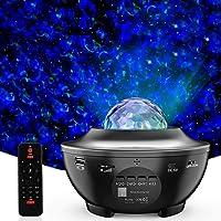 Lampe Projecteur LED Étoile, Lumière Projecteur Bluetooth Simulation des nuages 12 Modes Musicale Commande Minuterie…
