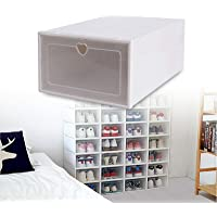Boîte à Chaussures,Boîtes à Chaussures Empilable,Lot de 20 Boîte de Rangement pour Chaussures en Plastique,Transparent…