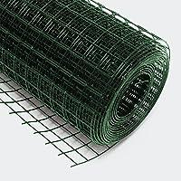 Wiltec Volierendraht 4-Eck in Grün mit 12x12mm Maschengröße, 10m Rolle 100cm Höhe, aus verzinktem Stahl