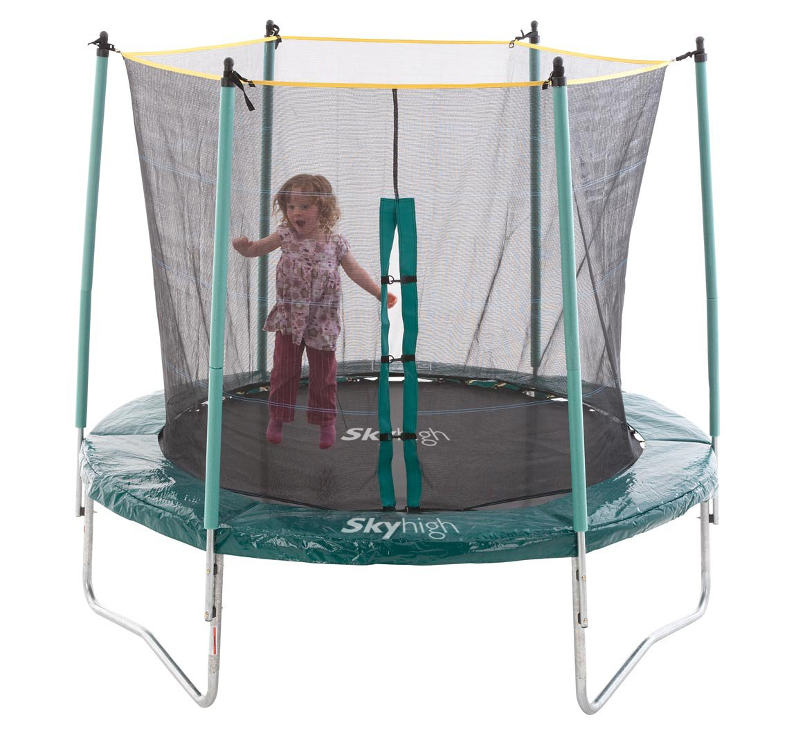 8ft Trampoline With Safety Enclosure. Exciting Bounce With