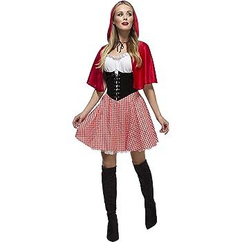 a57c1a6b87a6 Fever - Costume da Cappuccetto Rosso incl. vestito e mantella con  cappuccio