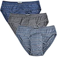 Knitlord Men's Briefs Slips Underwear Bamboo Pants Tag-Free Classic Underpants 3 or 4 Pack, S-M-L-XL-XXL