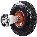 FRONTTOOL steekwagenwiel, lekvrij met kogellager PU Cross 260, 260 x 85 x 20 mm, massief rubber, reservewiel steekwagen 1 wie