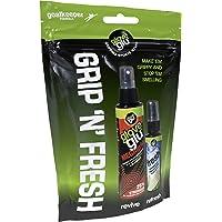 gloveglu Men's Mega and Fresh Bundle Football goalkeeping Grip Enhancer MEGAGrip and GloveFresh Pack, Black, One Size