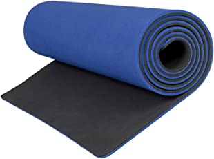 Aerolite Premium Double Colour Yoga/Fitness Mat (8.5mm, Blue, Grey)