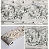 Cenefa de papel pintado impermeable-animal con dise/ño retirable autoadhesiva de para decoraci/ón de cocinas ba/ños y azulejos 10X900CM