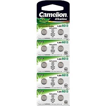 Camelion AG13 Camelion - Pilas para LR44, 13GA, V76PX, SR44