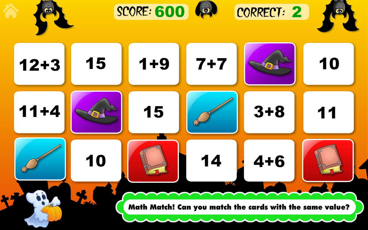 Math Bingo and Math Drills Challenge Learning Games for Pre-K to Fourth  Grade - Halloween Adventure Basic School Math: Numbers, Addition,  Subtraction, ...