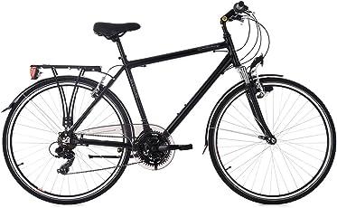 KS Cycling Herren Trekkingrad Herrenrad 28 Zoll Canterbury RH 54 cm Flachlenker Fahrrad, schwarz