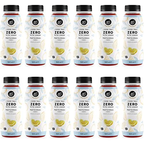 Marchio Amazon - Happy Belly Select - Tè freddo al limone, Zero, 12 x 0,5 l