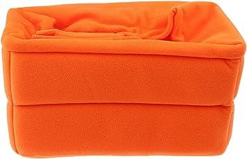 MagiDeal Shockproof Digital SLR Camera Bag Partition Padded Camera Insert Adjustable Camera Bag for Nikon Canon Orange