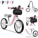 Lionelo Arie balanscykel barn cykel upp till 30 kg sadel och styre justerbar handbroms 30 cm Eva skumhjul metallram fotstöd v