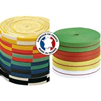 Rouleau karate blanc/jaune 50 mètres