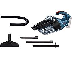 Bosch Professional 18V System Accuhandstofzuiger GAS 18V-1 (Zonder Accu's en Lader, met Afzuigbuis, Zuigmond voor Plinten en