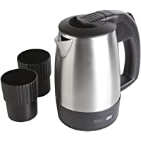 Wahl Travel Kettle with Cups, 0.5 Litre Small Kettle, Stainless Steel