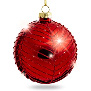 Weihnachtskugeln aus Glas 4er Set Ø 8 cm Silberne matt sowie glänzende