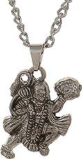 WellPoint Styles Creation Silver Metal Hanuman JI Pendant Necklace/Locket Jewellery/Ball Chain for Men