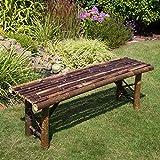 Homestyle4u Garten Braun Bambus Holz Terrasse Bank, Natur, Klein