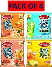 Wagh Bakri Ice Tea Orange, Khus and Saunf,Peach & Lemon (Each 1)-Pack of 4