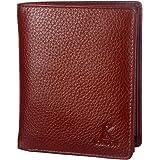 K London Men's Genuine Leather Wallet (Brown) (201_BRN)