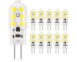 DiCUNO G4 LED 1.5W Ampoule, 180LM, AC/DC 12V Ampoules d'éclairage équivalent à 20W halogène, Lumière du jour 6000K, Non dimma