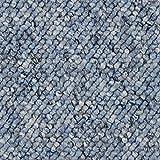 BODENMEISTER BM72181 Teppichboden Auslegware Meterware Schlinge blau 200, 300, 400 und 500 cm breit, Verschiedene Längen, Variante, 2 x 2 m