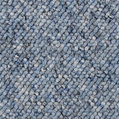 BODENMEISTER BM72181 Teppichboden Auslegware Meterware Schlinge blau 200, 300, 400 und 500 cm breit, verschiedene Längen, Variante:, 2 x 2 m