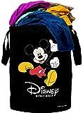 Kuber Industries Disney Print Waterproof Canvas Laundry Bag, Toy Storage, Laundry Basket Organizer 45 L (Black…