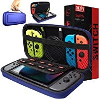 Orzly Carry Case Compatible With Nintendo Switch - MIDNIGHT BLUE Protective Hard Portable Travel Carry Case Shell Pouch…