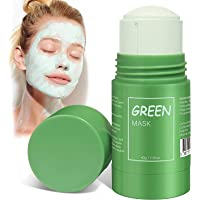 Ultra soft Green Tea Purifying Clay Stick Mask Oil Control Anti-Acne Eggplant Solid Fine, Portable Cleansing Mask Mud…