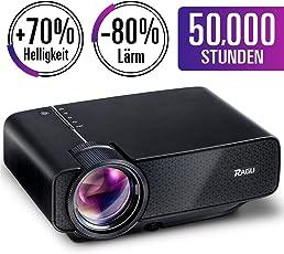 2018 Aktualisiert RAGU Z400 Mini Multimedia Tragbar Full HD Beamer, + 21% Lumen 50,000 Stunden Unterstützung HDMI VGA USB AV SD verbunden mit Amazon TV Fierstick-Laptop Smartphone/iPad Xbox für Film-Bild Spiel-Partei