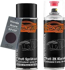 Tristarcolor Autolack 2k Spraydosen Set Für Honda Acura Rp25p Aubergine Perl Basislack 2 Komponenten Klarlack Sprühdose Auto