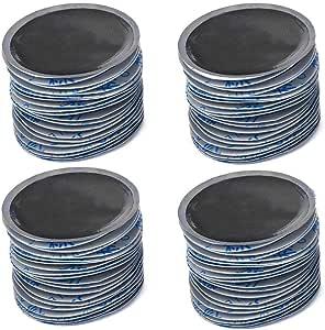 Qiilu Reifenpflege Reparaturset Für Reifenpannen Reifenpanne Patches Patch Reifenreparatur Radial Reifenpflaster Für Auto Motorrad Fahrrad Lkw 80 Stück 58 X 58mm Auto