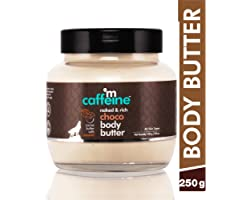 MCaffeine Naked and Rich Cocoa Butter, Caramel Deep Moisturizing All Skin Paraben and Mineral Oil-Free Choco Body Butter , 25