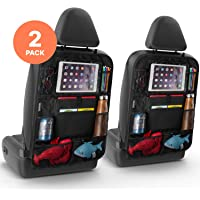 Karids 2 Pack Backseat Car Organizer - Multi Pocket All Purpose Holder for iPad, Cooler bottles, Toys, Books, Tissues, etc.-car seat accessories storage protector organiser-campervan uk