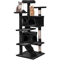 Weico Premium Katzen Kratzbaum mit Sisal - Kletterbaum mit Kuschel und Spielmöglichkeiten - Katzenkratzbaum in schwarz…