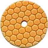 Chemical Guys BUFX112HEX5 Hex-Logic Quantum Medium-Heavy Cutting Pad (Orange, 5.5 Inch), 5.5