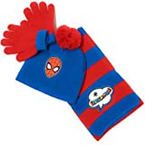 3 oto/ño//invierno al aire libre cuello Superman XS 4 doble capa con bufanda de doble capa y guantes. juego de 3 piezas de guantes para ni/ños 12 a/ños de edad oto/ño//invierno de Spider-Man